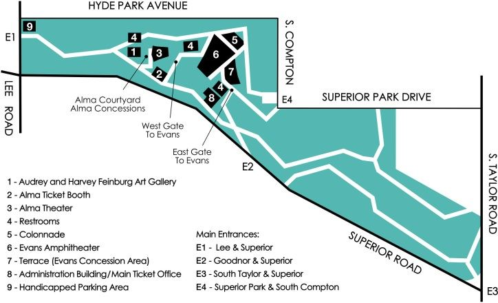 Hyde Park Avenue and Superior Road Map Area